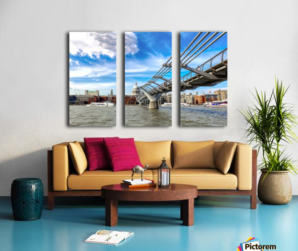 Landscape - London skyline - St Pauls Cathedral Split Canvas print