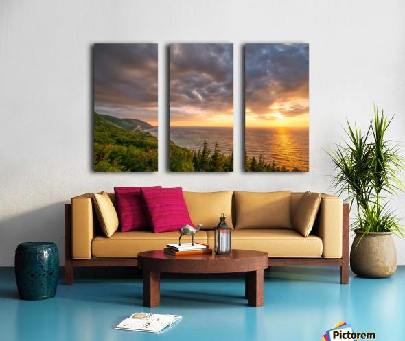 The Endless Sun Split Canvas print