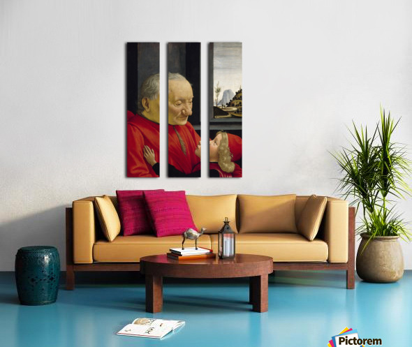 Old man and his son Split Canvas print