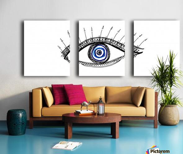 The Eye 20X8 Split Canvas print