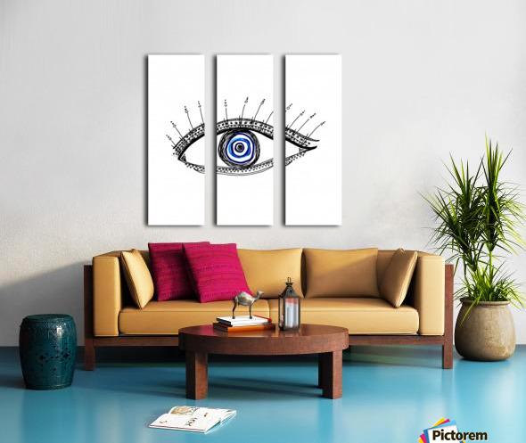 The Eye  12X12 1 1 Split Canvas print
