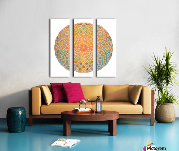 Life Geometry Split Canvas print