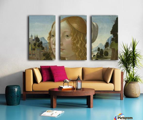 Portrait of a lady Split Canvas print