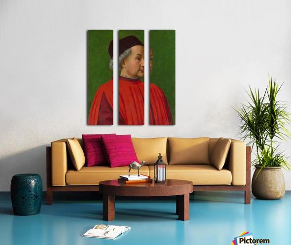 Portrait of a man Split Canvas print