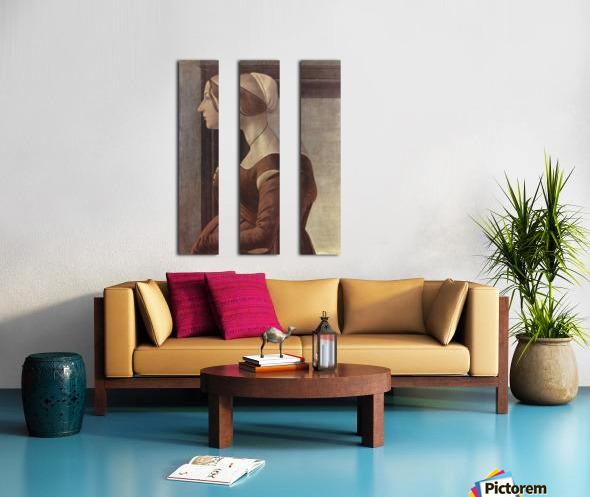 Portrait of a woman Split Canvas print