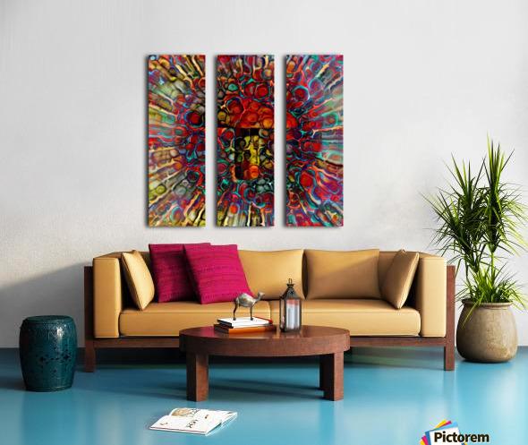 Colorful Mushroom Split Canvas print
