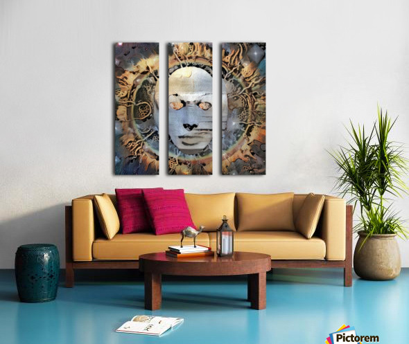 The Mask of Mystery Split Canvas print