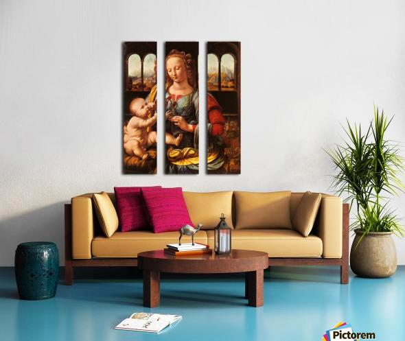 Leonardo da Vinci. The Madonna of the Carnation HD 300ppi Split Canvas print