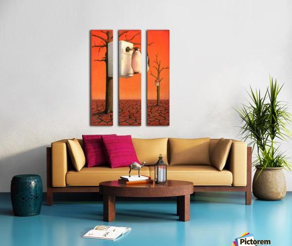 Pawel Kuczynski 29. Split Canvas print