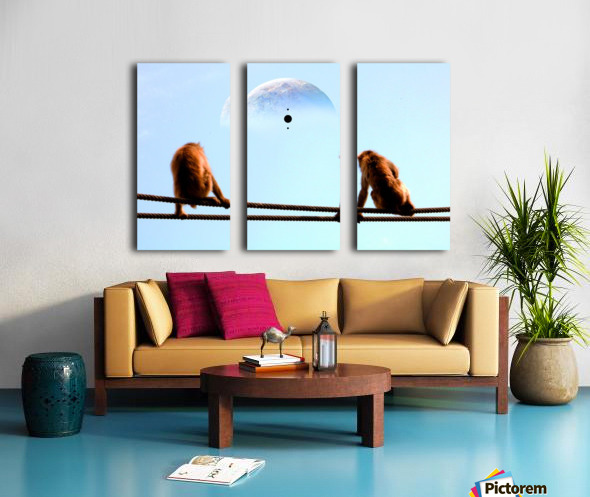 blue moon keys Split Canvas print