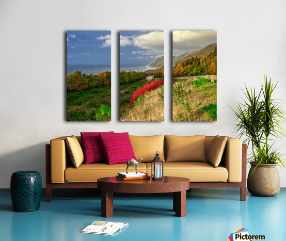 Cabot Trail Colors Split Canvas print