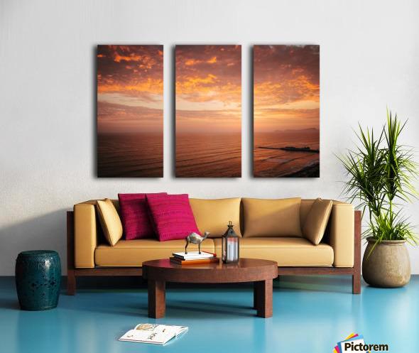 Lima Sunset Split Canvas print