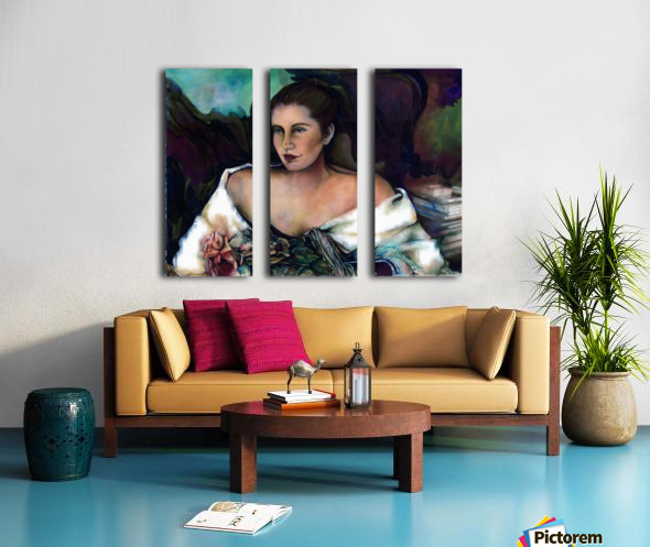 Spanish Lady With A Rose Split Canvas print