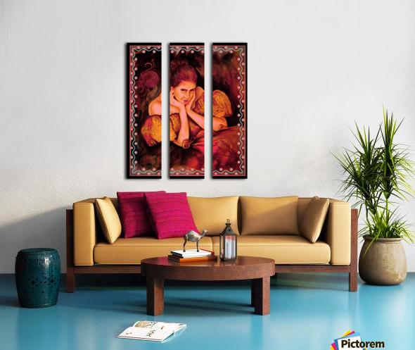 Flirty Girl  Split Canvas print