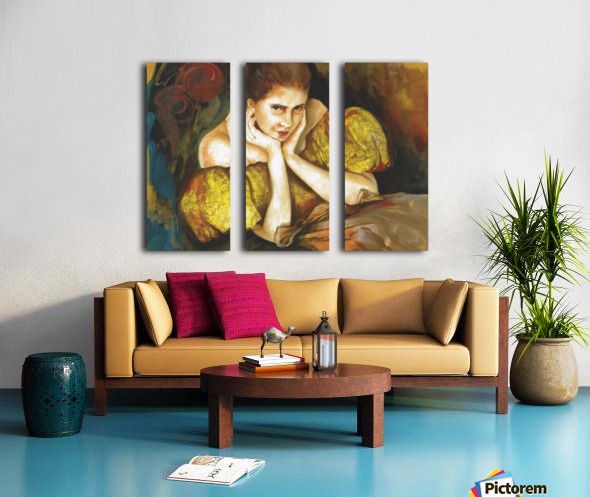 Flirty Girl 2   Split Canvas print
