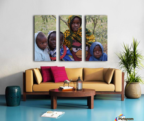 Faces of Africa Split Canvas print