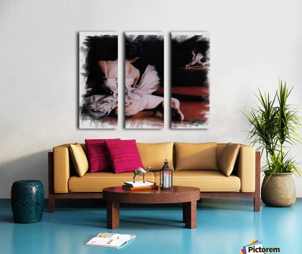 Ballerina In The Mirror .  Split Canvas print