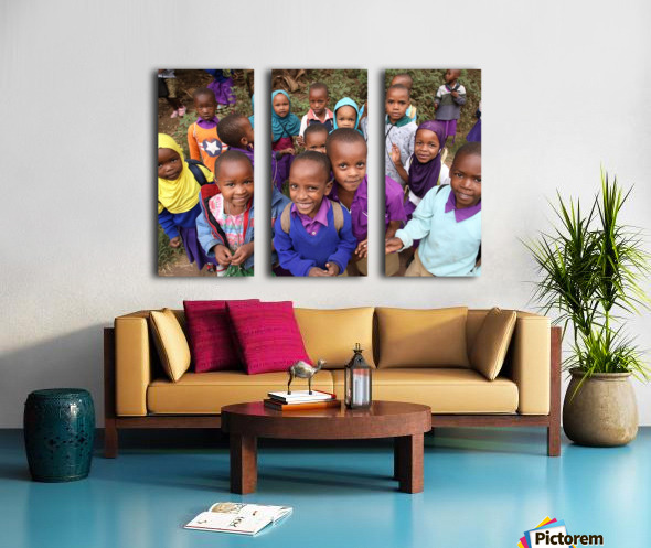 Many Faces of Africa Split Canvas print