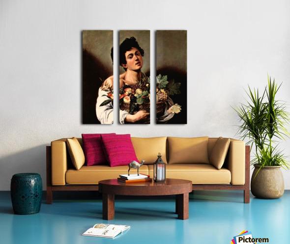 Man with basket Split Canvas print