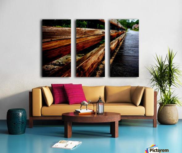 Wooden bridge Split Canvas print