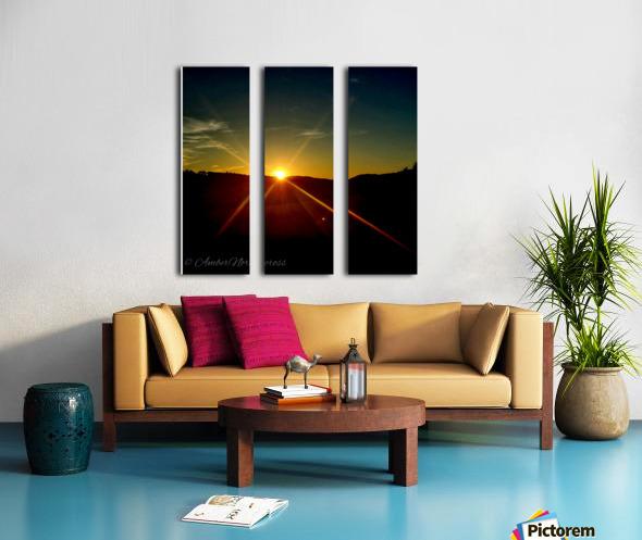 Glinting horizon Split Canvas print