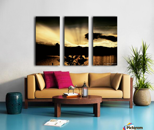 Ray of light Split Canvas print