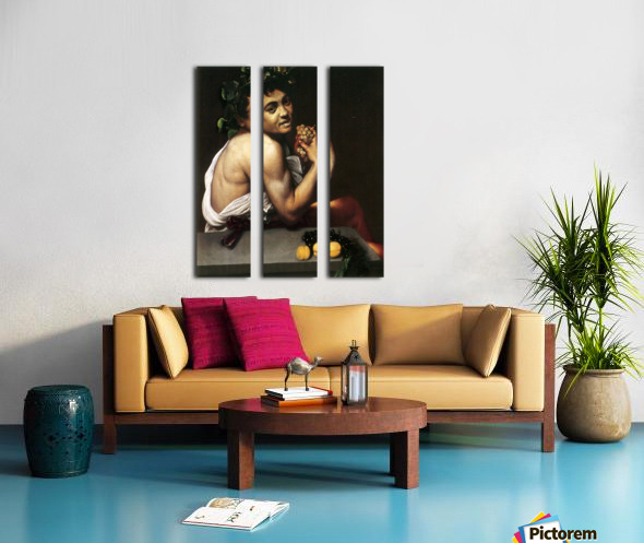 Young Sick Bacchus Split Canvas print