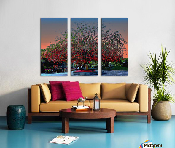 P36 - Red Red Tree Split Canvas print