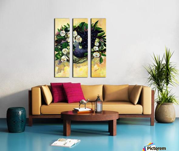 F07 - Bauhinia Variegata Split Canvas print