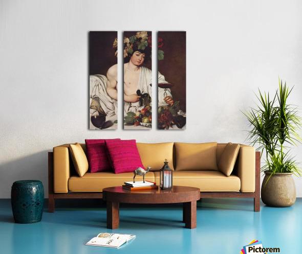 Self portrait Caravaggio Split Canvas print