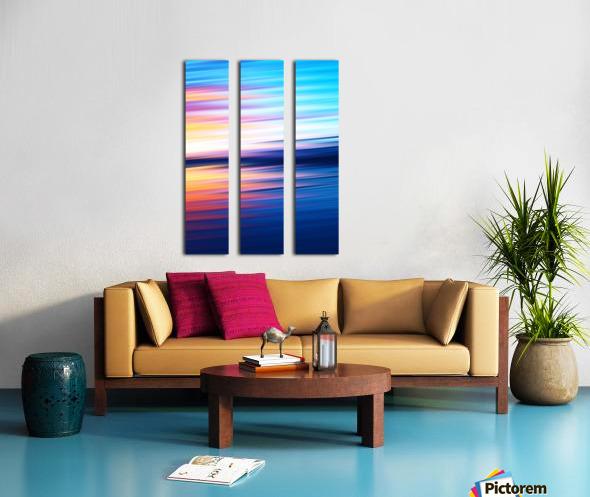 Abstract Sunset XI Split Canvas print