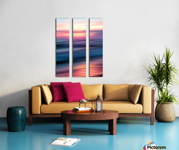 Abstract Sunset XII Split Canvas print