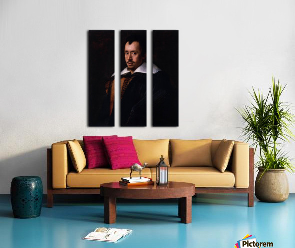 Portrait of the Poet Giambattista Marino Split Canvas print