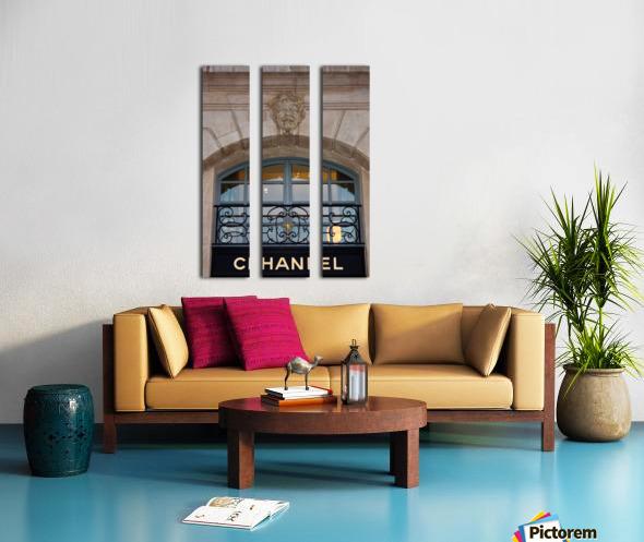 Chanel Paris Split Canvas print