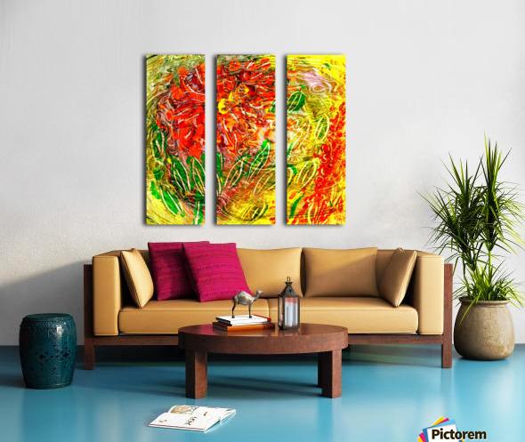 orange flower energy abstraction Split Canvas print