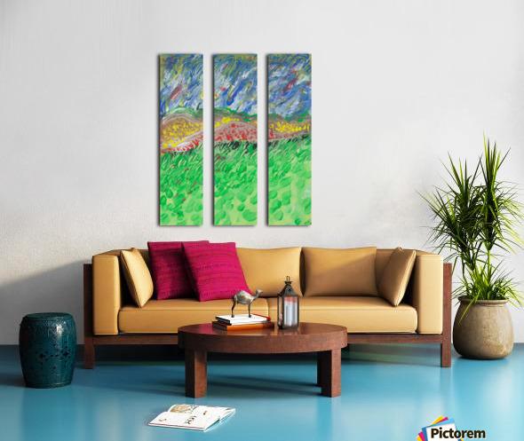 windy landscape Split Canvas print