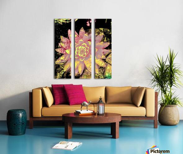 Pink fire lotus  Toile Multi-Panneaux