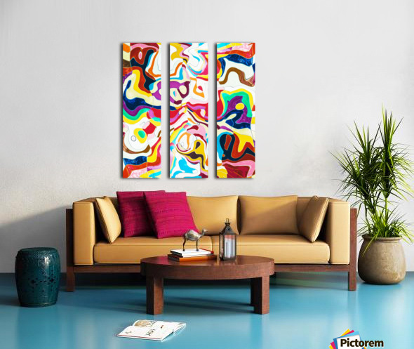 Bipolar Split Canvas print