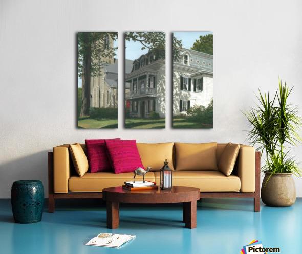 Balcony House Shadows - Newtown Scenes 16X20  Split Canvas print