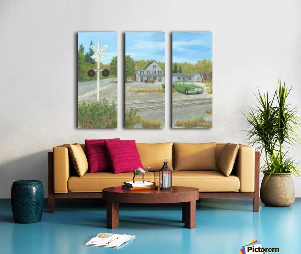 Hawleyville Scene - Newtown Scenes 16X20 Split Canvas print