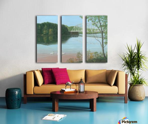 Silver Bridge - Newtown Scenes 18X24 Split Canvas print