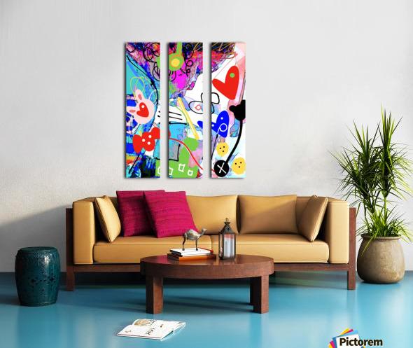 Piki Lemonade Split Canvas print