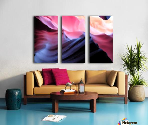 Blue Canyon Split Canvas print