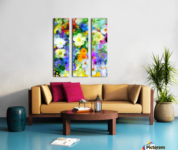 Garden Party Split Canvas print