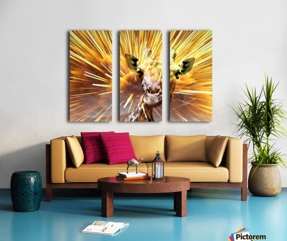 Giraffe pop 7  Split Canvas print