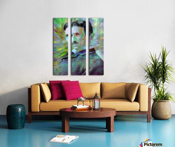 Electric Tesla Split Canvas print