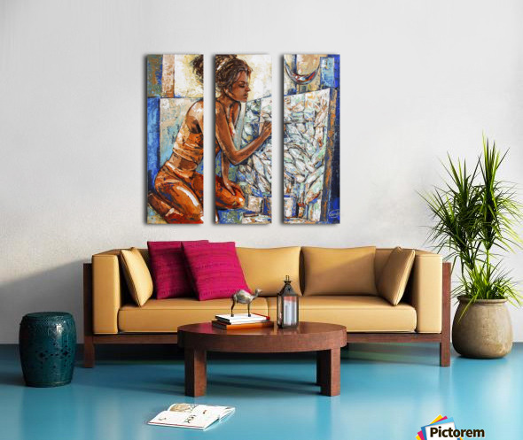 Just one touch 18 x 18 Split Canvas print