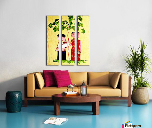 AS - Two Chinese Ladies Split Canvas print