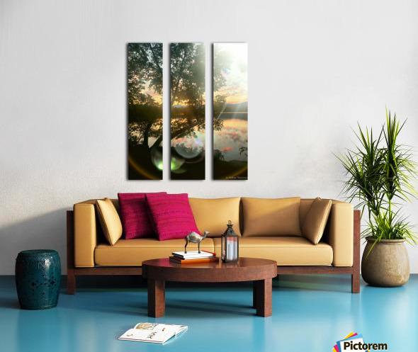 Stunning sunset Split Canvas print