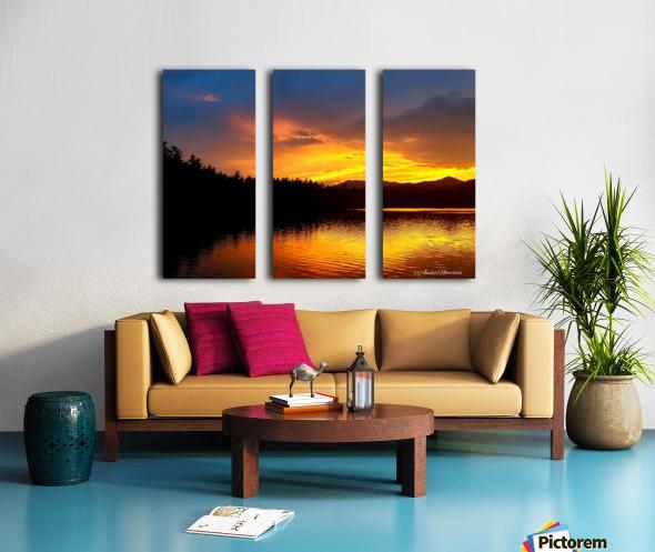 Firey Sunset Split Canvas print